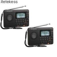 2 шт. Retekess V115 FM/AM/SW радио приемник басовый звук MP3 плееры REC Голос регистраторы с таймер сна широкодиапазонный радиоприемник
