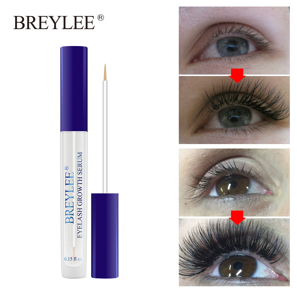 Caliente suero de crecimiento de pestañas de BREYLEE estilo potenciador de pestañas ojo tratamiento líquido más completo más grueso extensión de pestañas maquillaje