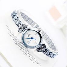 De Moda de lujo de Cuarzo Relojes de Pulsera de mujer pulseras de reloj de Acero de Aleación