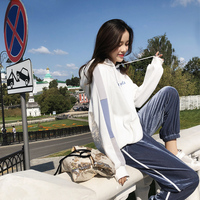 Letter Print Women Hoodies Sweatshirt Winter Autumn Thicken Harajuku Sudaderas Mujer Long Sleeve Pullovers MX18C6246