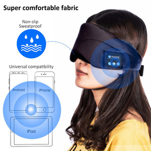 Image 5 - JINSERTA Bluetooth casque sommeil oeil masque sans fil musique Bluetooth sommeil yeux nuances casque Support mains libres lavable