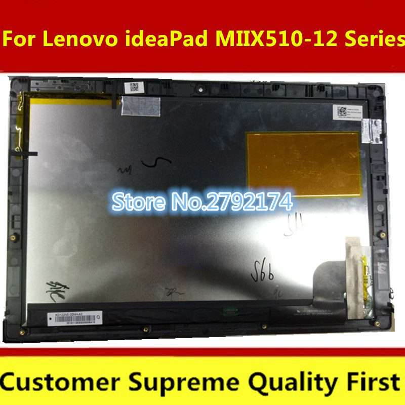 Original For Lenovo IdeaPad MIIX 510-12 Series LED LCD Screen Touch Digitizer Assembly Miix 510-12isk With Frame
