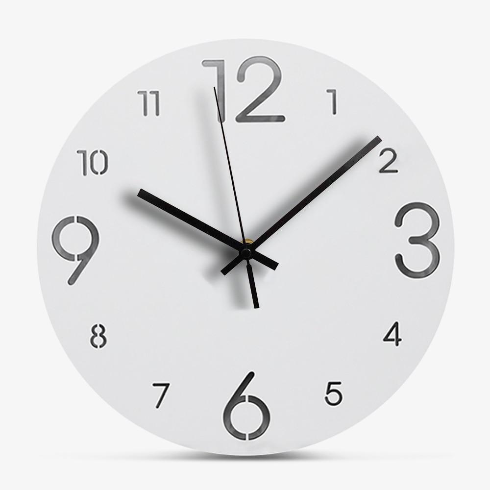Creativo Reloj de pared de madera blanco diseño europeo MDF reloj de madera Simple moderno Circular Relojes Decoración de pared del hogar sala de estar Reloj de pared silencioso con posición de amor sexual juego de despedida de soltera Kama Sutra 3D DIY reloj para habitación de adultos decoración de acrílico reloj grande