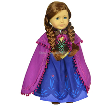 Wholesales Snow Ice Princess 3 piece Outsuit Doll Clothes For 18 American Girl