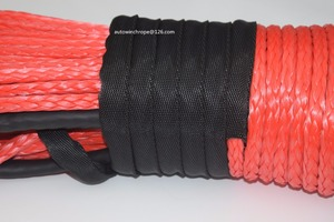 Image 2 - Red 10mm*45m Rope for ATV Electric Winch,Synthetic Winch Rope,ATV Winch Cable,4x4s Off Road Parts