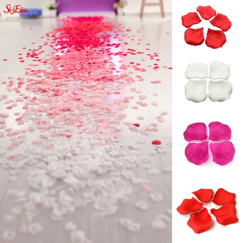 white red pink 1000pcs Silk Rose Petals Flower Leaves Petals Wedding Supplies Favor Party Decorations light blue purple 6Z SH012