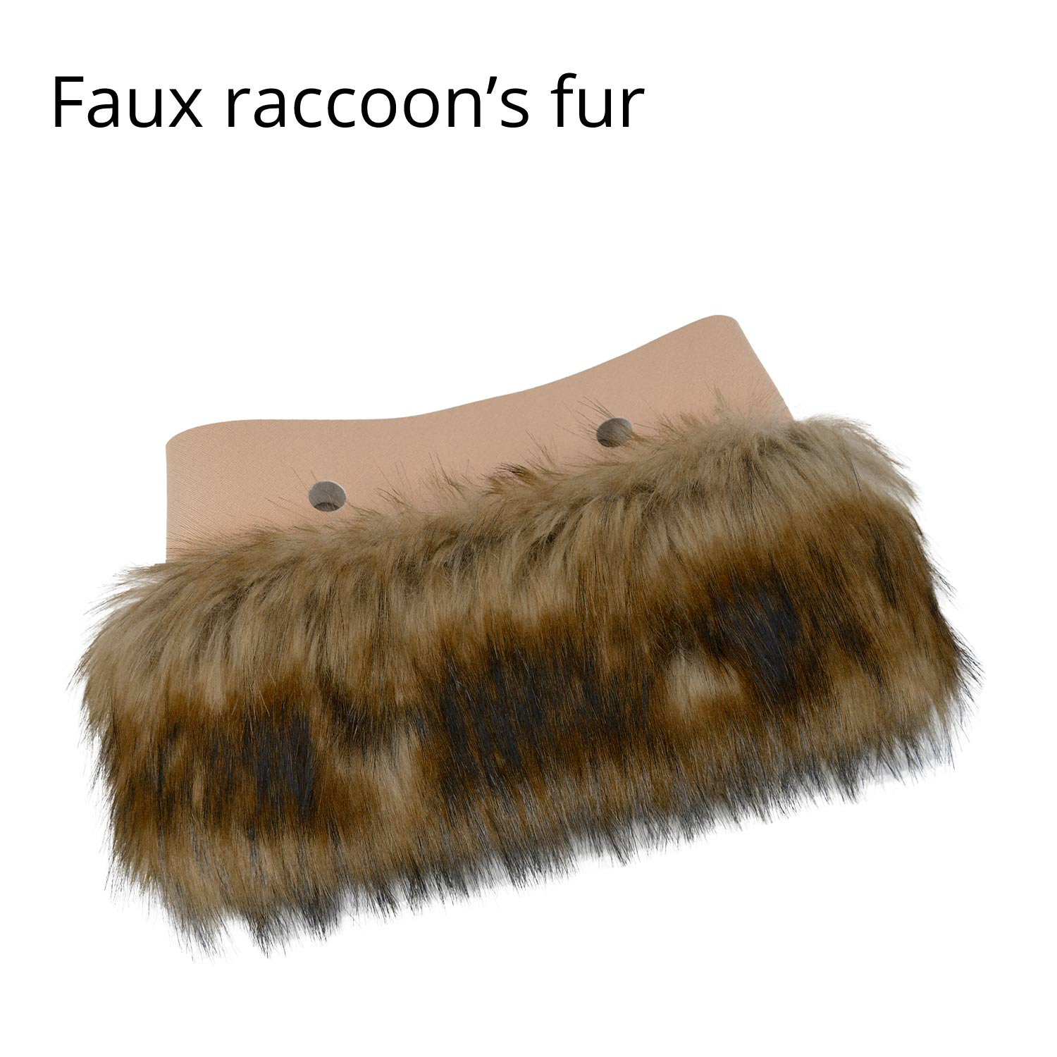 Package Included 1 pc of faux fur plush decoration(Bag body and handles not  inclueded) ccacd14e49ffa