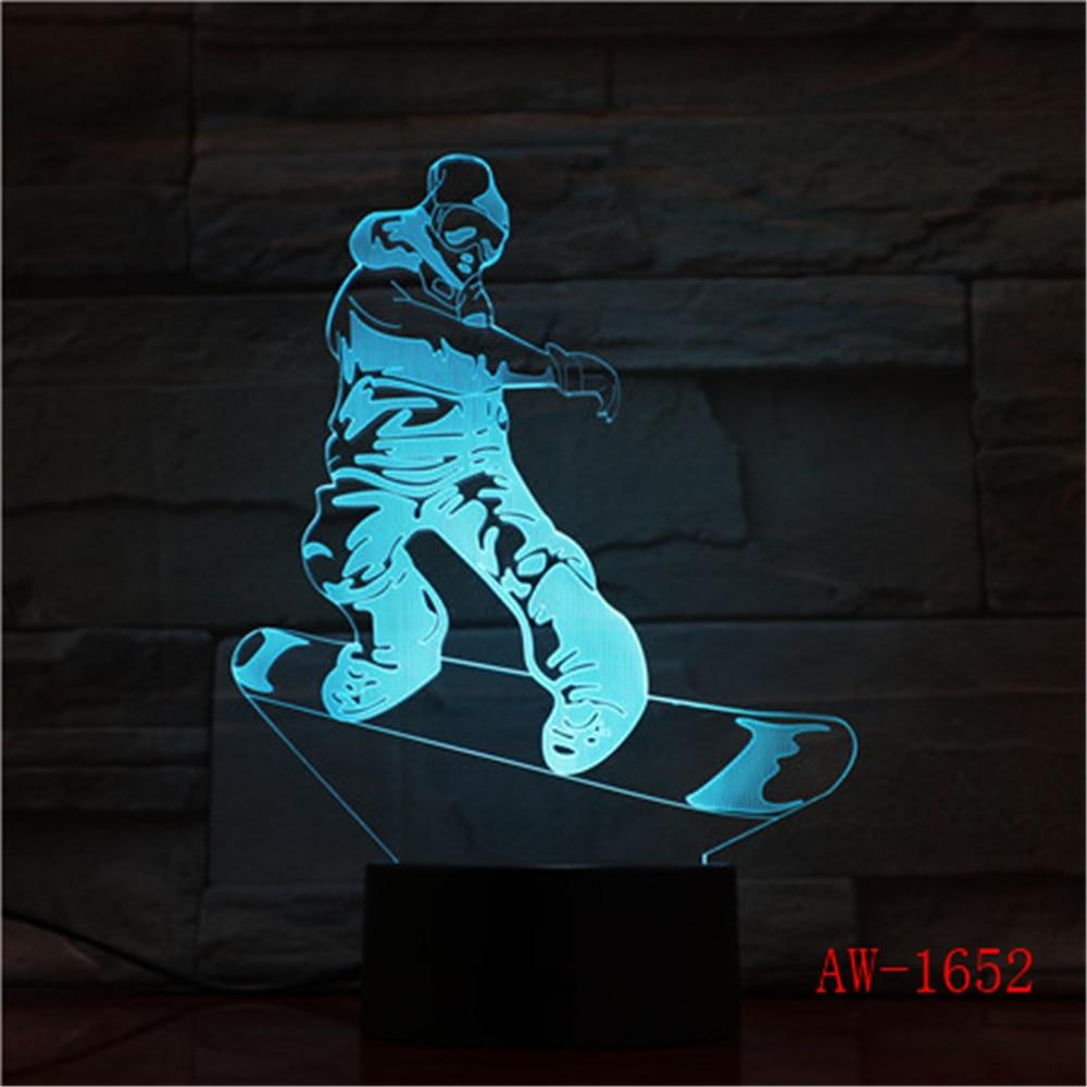 MJ Michael Jackson Sign 3D illusion Lights Table Desk Lamp 7 Color Acrylic USB led Children's Room Decor Night light AW-1657