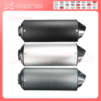 Motorcycle 28/38mm Exhaust Muffler Motocross W Clamp For 125cc 140cc 150cc 160cc Scooter Pit Dirt Bikes Lifan YX Stomp SDG