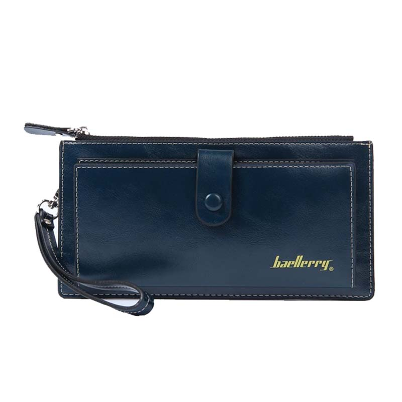 Female Leather Hand Bag Fashion Wallets Women Coin Purses Wristlet Bags With Strap
