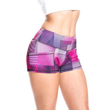 Women'S Gym Sports Shorts Pocket Print Fitness Workout Running Short Pants Slim Fit High Elastic Quick Dry Yoga Clothes