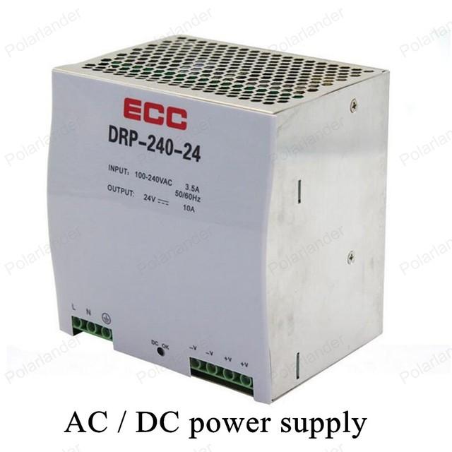 AC/DC 24 V 10A salida doble fuente de alimentación de Interruptor de Iluminación LED transformador de Tensión de fuente de Alimentación de carril conductor para la Tira Llevada RGB luz