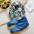 2017 New Fashion Boys Clothes Autumn Winter Kids Toddler Clothing Long Sleeves Print 2 pieces Set Novelty for Children T648