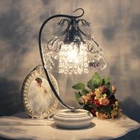 Authentic Korean crystal table lamp bedroom bedside dimming lamp|crystal table lamp|table lamp|dimming lamp -