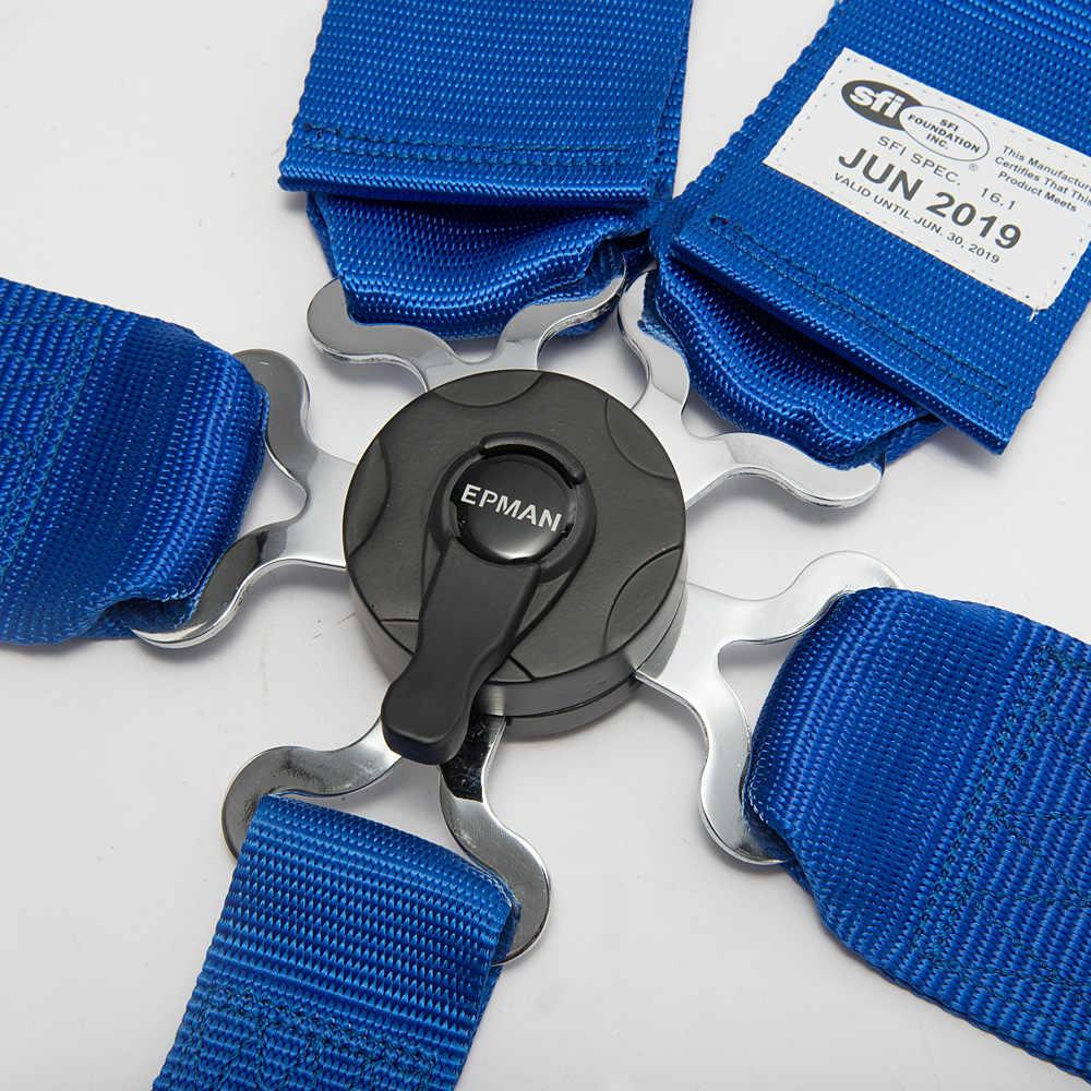 8 Colors EPMAN Universal 5 Point Camlock Quick Release Racing Seat Belt  Harness 3