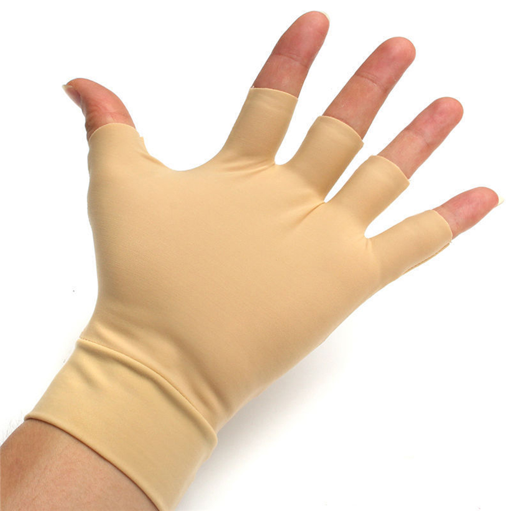 1Pair Half-Finger Anti Arthritis Health Gloves Washable High Elastic Nylon Arthritis Relief Anti Hand Compression Gloves