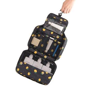 d6929e0f4 Bolsa de aseo con gancho para mujer bolsas de cosméticos de dibujos  animados necessarios de viaje organizador portátil para hombre estuche de  maquillaje ...