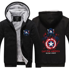 Fans Wear Unisex Winter Captain America Cosplay Hoodies Costume Casual Coat Polyester Hoodie with Pocket