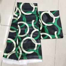 DF! 2018 imitato tessuto di seta del tessuto della stampa africano tessuto africano del commercio allingrosso nigeriano tessuti ankara africano stampe di cera! J11398
