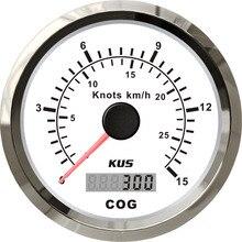 85 мм gps Спидометр 15л 0-15узлов со Спидометр с антенной с подсветкой белая Лицевая панель