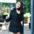 Invierno nueva moda de color sólido irregular capa de algodón mujeres embarazadas de Corea Del cremallera cuello de piel down jacket