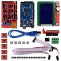 Kit Impressora 3D com RAMPS1.4 + Mega 2560 + 5 pcs A4988 com Dissipador de Calor + LCD 12864 Display Gráfico Inteligente controlador com Adaptador