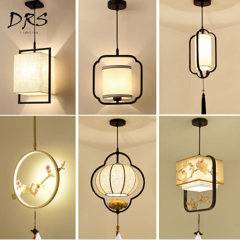 2019 Latest Design Japanese Rural Plant Stained Glass Coffee Bar Restaurant Kitchen Led Hanging Lamp Pendant Dining Table Light Long Chain Cord Lights & Lighting