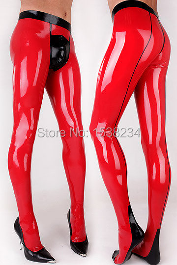 Pantalon Latex caoutchouc culotte Latex rouge Latex pantalon caoutchouc homme avec garnitures