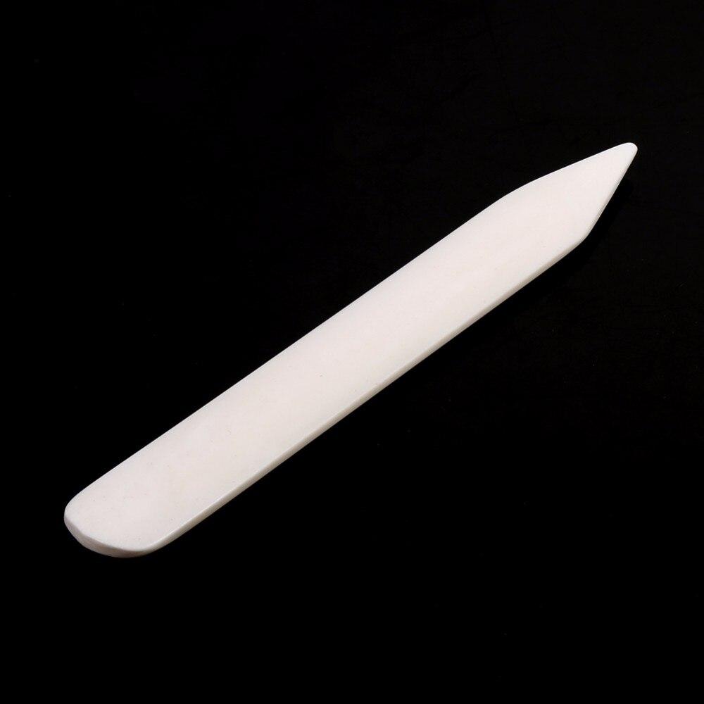 Кожа ремесло инструменты кости Папка Инструмент белый используется для формирования кожи биговки приработки края Папка Инструмент