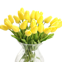 1pcs Artificial Tulips fake Flowers PU Leather mini Tulip Flores Artificiales Bouquets for Party Home Wedding decoration cheap