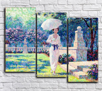 Diamond Embroidery Diamond Mosaic Square Diy Diamond Painting Cross Stitch Needlework Home Decor Umbrellas Beauty Triptych
