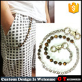 New Design Promotions Handmade Tiger Eye Trousers Chain For Men , Turquoise Stainless Steel Trousers Chain