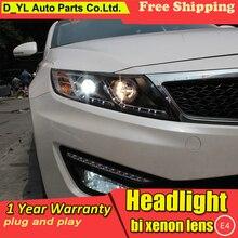 DY_L Автомобиль Стайлинг фара для Kia K5 2011-2012 светодиодный фары DRL H7/D2H HID Xenon Биксеноновые линзы