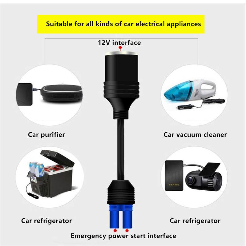Auto Electric EC5 Connector For Starter Car Refrigerator Data Recorder Cigarette Lighter Adaptor Cable 1PCS