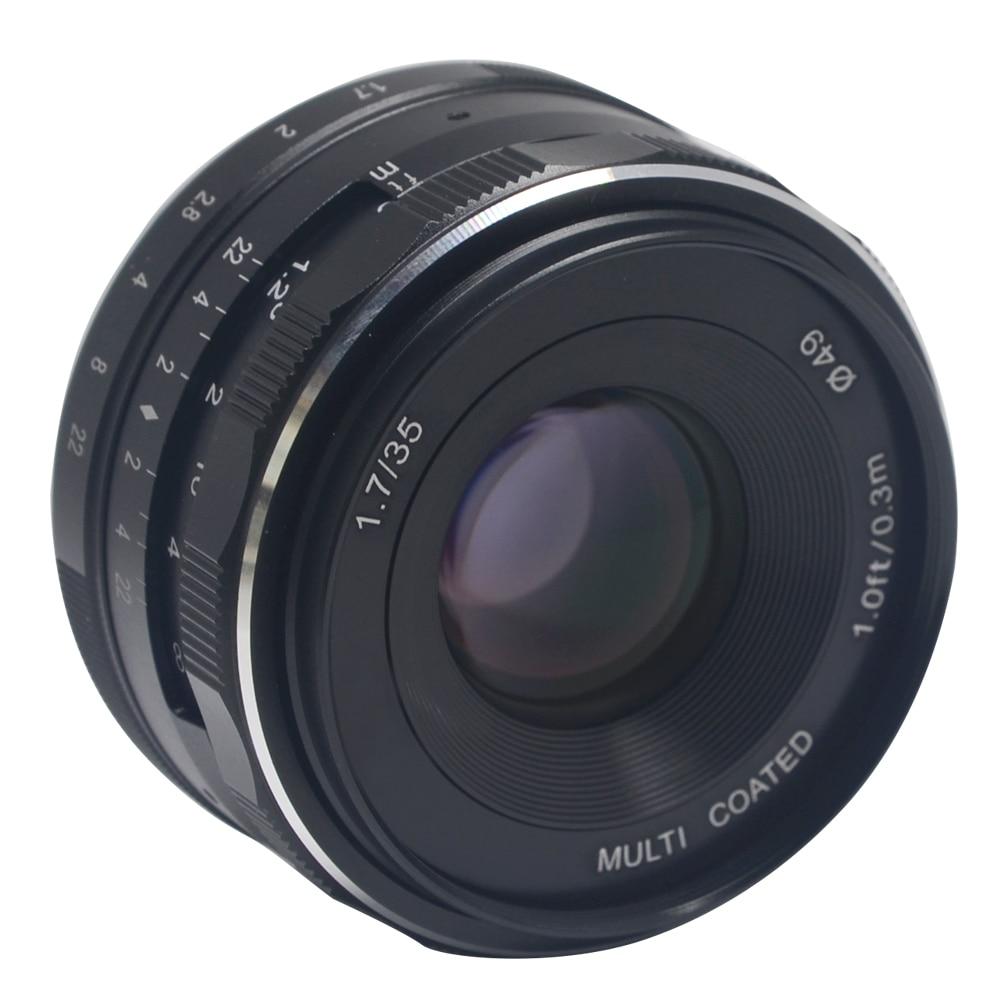 Mcoplus/Meike MK-NM-35-1.7 35mm f 1.7 Large Aperture Manual Focus lens APS-C For Nikon Mirrorless cameras J1 V1 meike mk d750 battery grip pack for nikon d750 dslr camera replacement mb d16 as en el15 battery