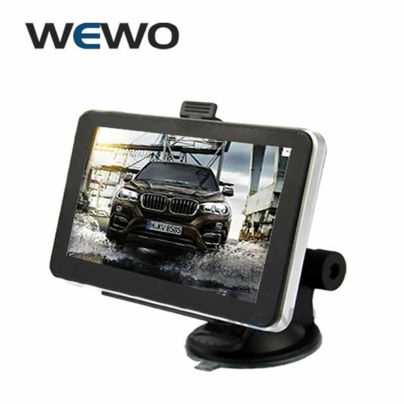 HD 5 inch font b GPS b font navigation with 800MHZ Wince 6 0 Bluetooth AV