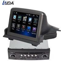 LJDA 2 din 7 дюймов Автомобильный dvd плеер Android 6,0 для peugeot 307 2007 2011 gps навигация Bluetooth USB Мультимедиа Бесплатная карта fm радио