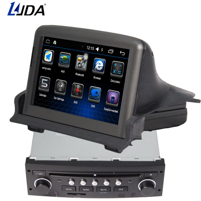 LJDA 2 din 7 inch Android 6.0 Car DVD Player for Peugeot 307s