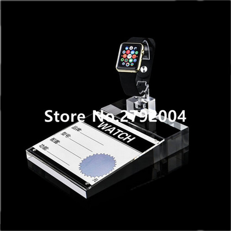 cristal claro acrilico iwatch diaplay suporte para todos relogios tipo 04