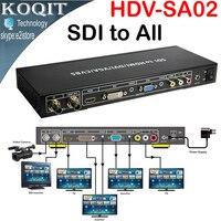 HDV SA02 SDI to ALL Scaler Converter SD HD 3G SDI With SDI LOOP OUT To HDMI DVI VGA CVBS Analog Converter Splitter Extender