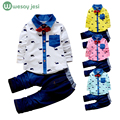 Children clothing sets korean kids costume Girls denim shirts Pants toddler Boys Clothes Set Cotton wedding suits for baby boys