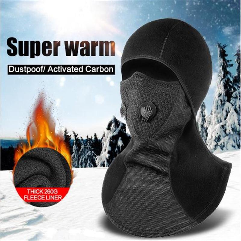 Filtros De Carbón Activo Polar Térmico Pasamontañas Impermeable A Prueba De Viento Máscara De Cara Sombrero De Cuello Casco Beanies Hombres Mujeres Deportes Sombrero