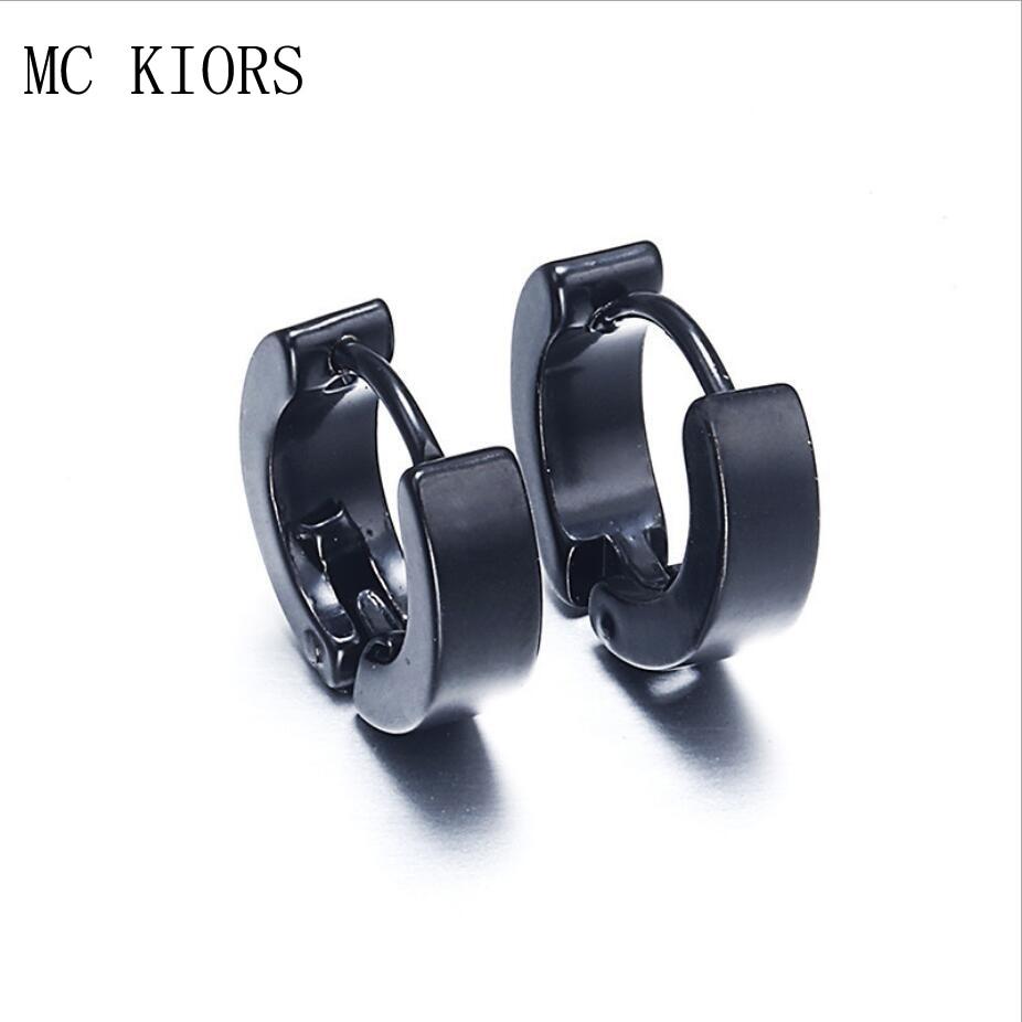 5 Colors Small Hoop Earrings Silver Gold Stainless Steel Hoop Earring For Women Men Ear Rings Clip Colored Circle Earrings earrings