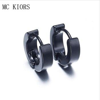 5 Colors Small Hoop Earrings Silver Gold Stainless Steel Hoop Earring For Women Men Ear Rings Clip Colored Circle Earrings circle