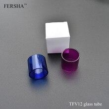 FERSHA üvegcső az SMOK TFV12 elektronikus cigarettapiros / kék tartályhoz Pyrex üvegcső