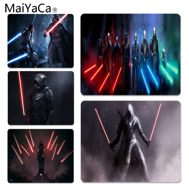 MaiYaCa StarWars Jedi Darth Unique Desktop Pad Game Mousepad Size for 25X29cm Gaming Mousepads image