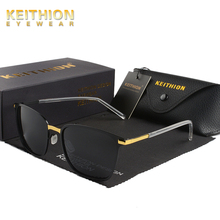 KEITHION Brand Designer Polarized Sunglasses Men UV400 Driver Dazzle Color Classic Outdoors Fashion Metal Sun Glasses