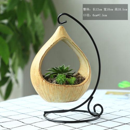 Модный дизайн, железные подвесные цветочные горшки для питомцев, корзина-ваза для растений, держатель горшка с керамическими горшками для питомцев