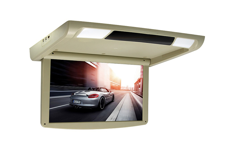 New Car Roof Monitor Fully Motorized 1920*10180 HD LED Digital Screen 12V~24V Roof Mounted Car Monitor + HDMI Input USB SD FM