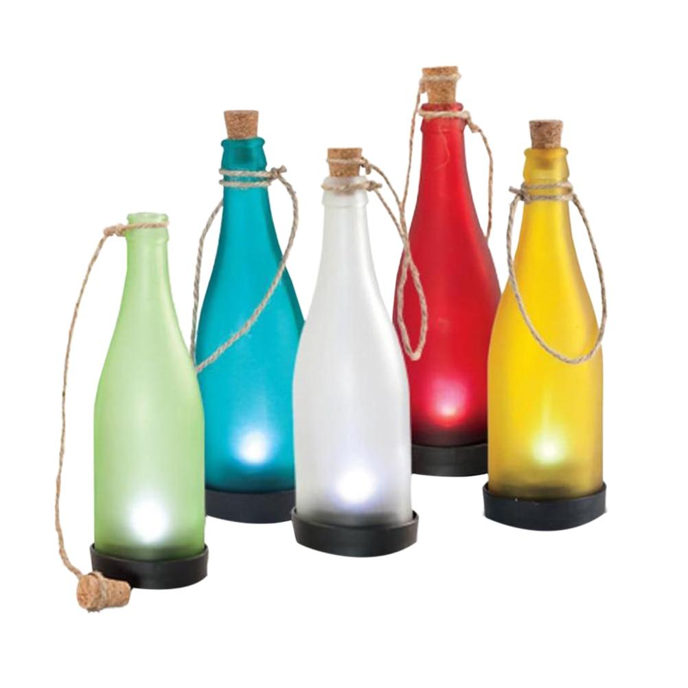 Diy 5 Pvc Led Landscape Lights: 5 Pcs Plastic LED Lamp Solar Bottle Light Decoration Lamp
